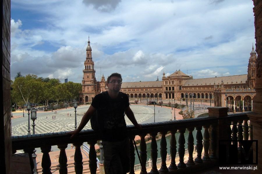 Tomasz Merwiński na tarasie Plaza de España