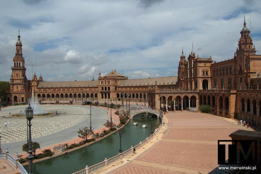 Plaza de España - widok z jednego z tarasów