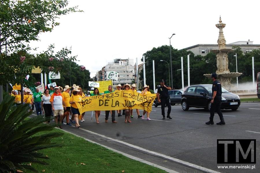 Protesty w Sewilli w Andaluzji