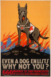 plakat-wojenny-even-a-dog-enlists