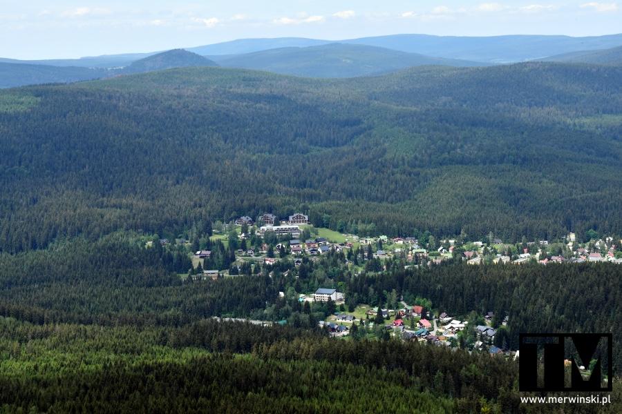 Widok na Karkonosze z Czarciej Góry