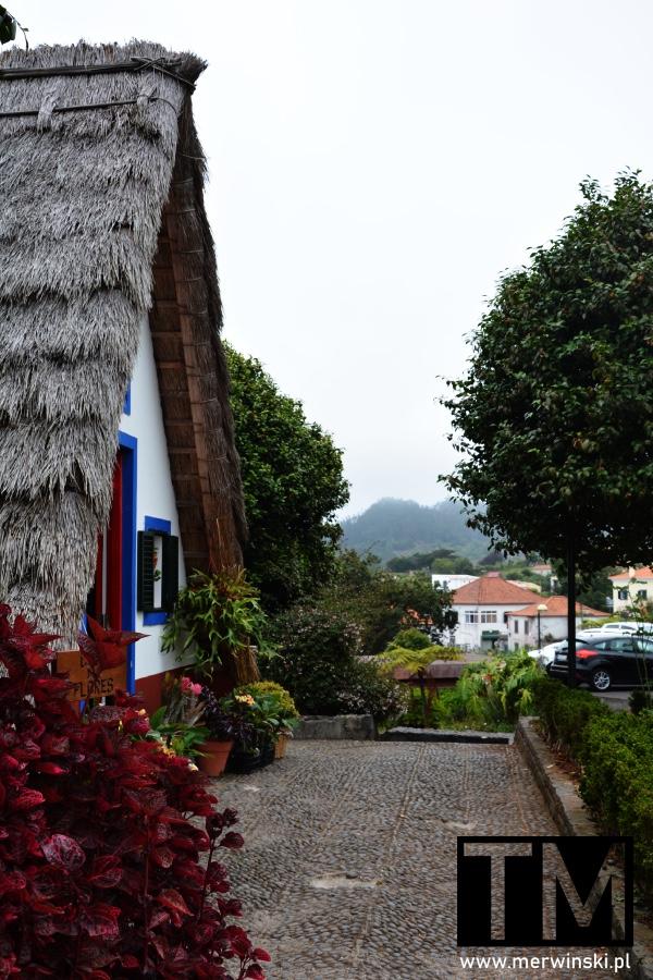Fragment tradycyjnego domku w Santanie na Maderze