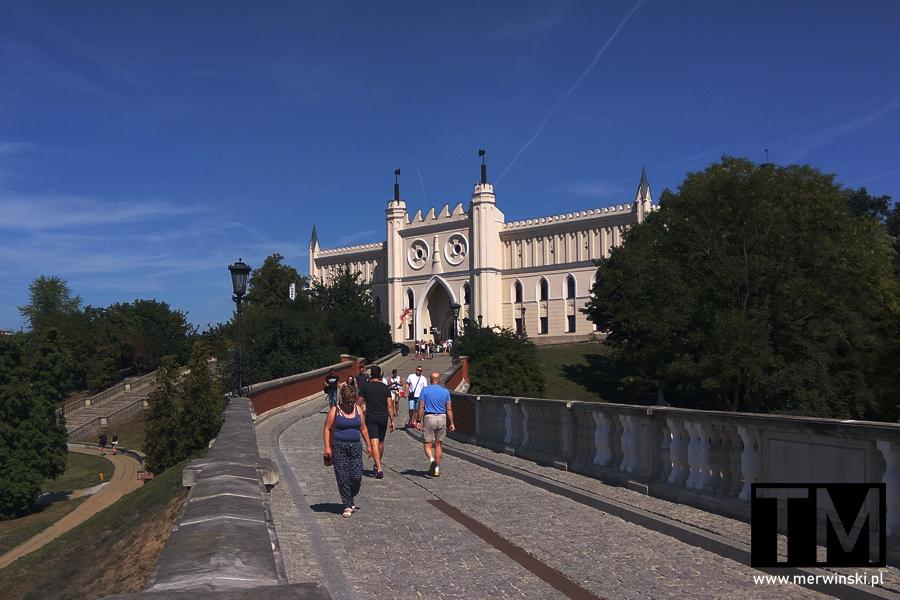 Widok na zamek w Lublinie