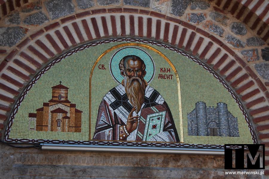 Mozaika na elewacji cerkwi św. Pantelejmona