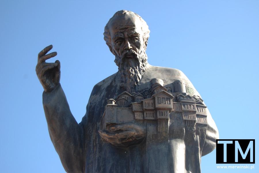 Rzeźba Klemensa z Ochrydy w Macedonii Północnej