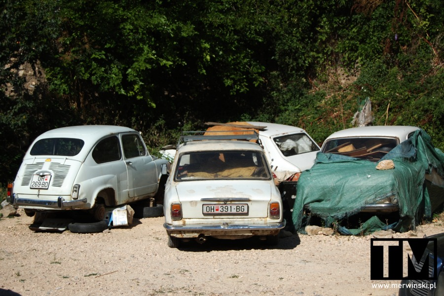 Stare samochody w Ochrydzie