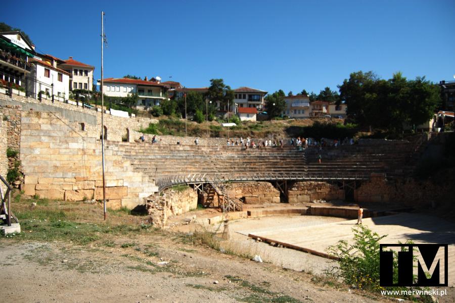 Starożytny Teatr w Ochrydzie w Macedonii Północnej