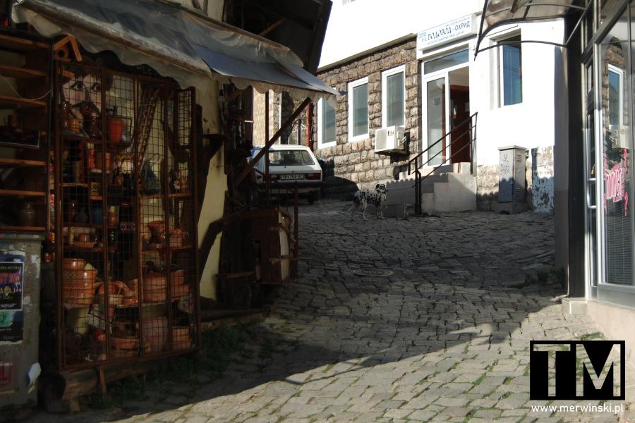 Wąska uliczka, Ochryda, Macedonia Północna