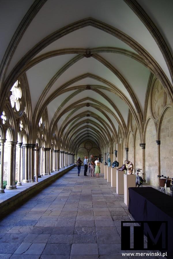 Krużganek przy katedrze w Salisbury