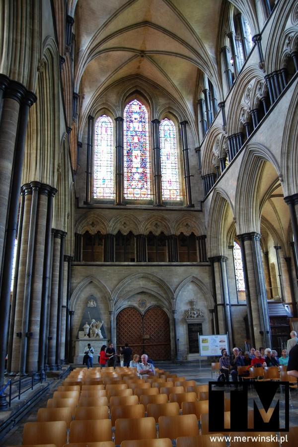 Wejście główne do katedry w Salisbury