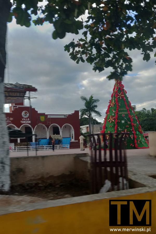 Choinka w pueblo w Meksyku
