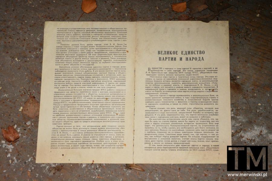Radziecki tekst w opuszczonym legnickim szpitalu