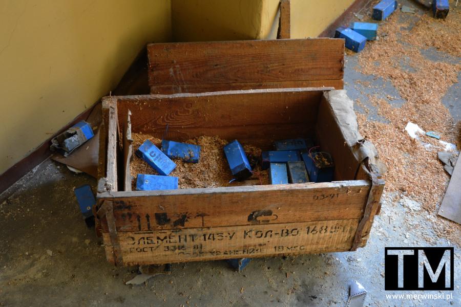 Poradziecka skrzynia w legnickim opuszczonym szpitalu