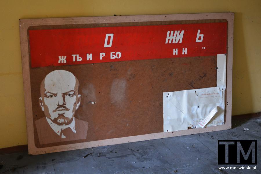 Poradziecki szpital w Legnicy - wizerunek Lenina