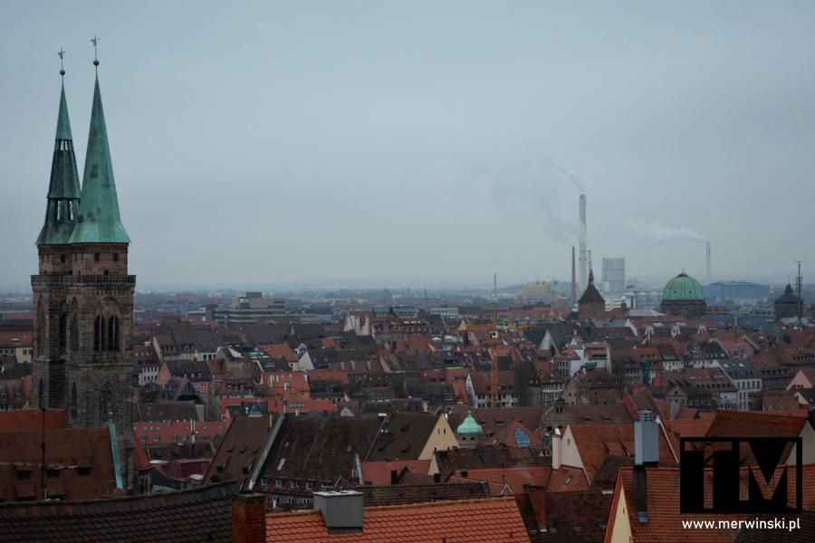 Panorama miasta - Norymberga, Bawaria, Niemcy