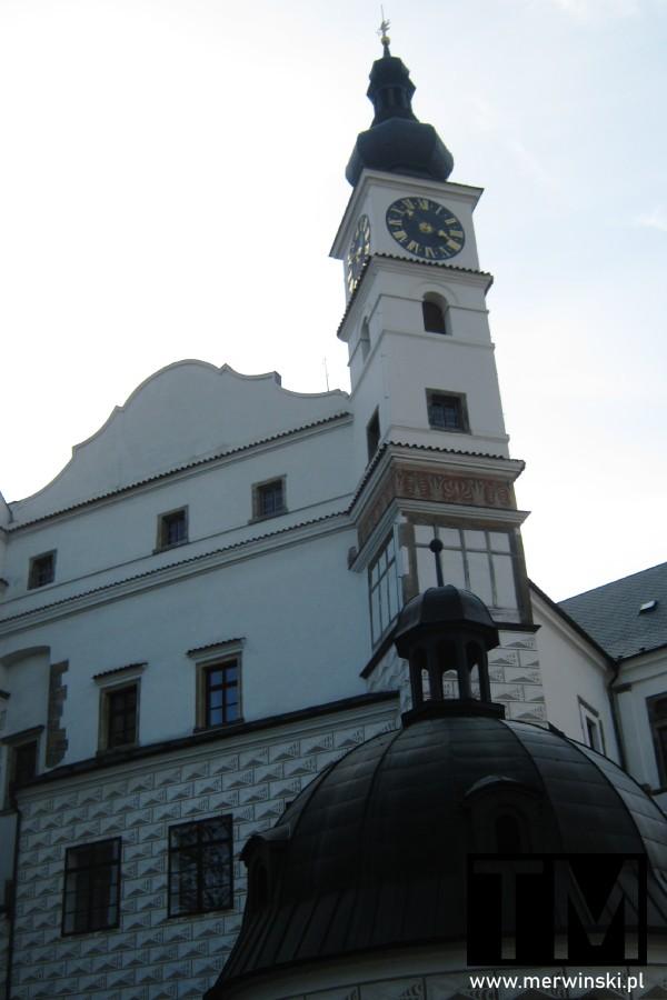 Wieża z zegarem w zamku pardubickim