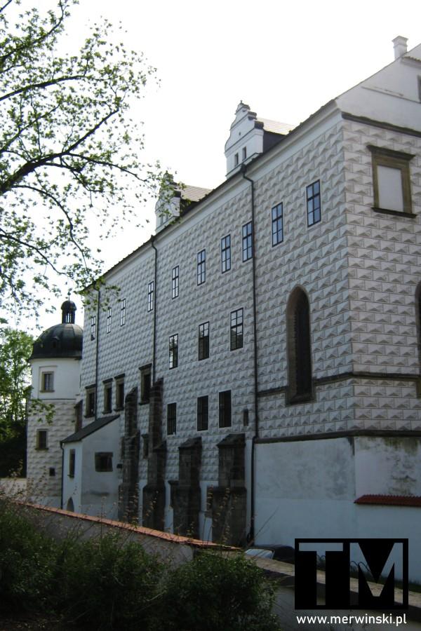 Ściana pardubickiego pałacu