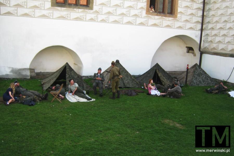 Rekonstrukcja wojenna na zamku w Pardubicach