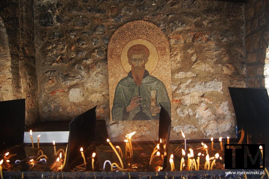 Wizerunek świętego w monastyrze św. Nauma w Macedonii Północnej