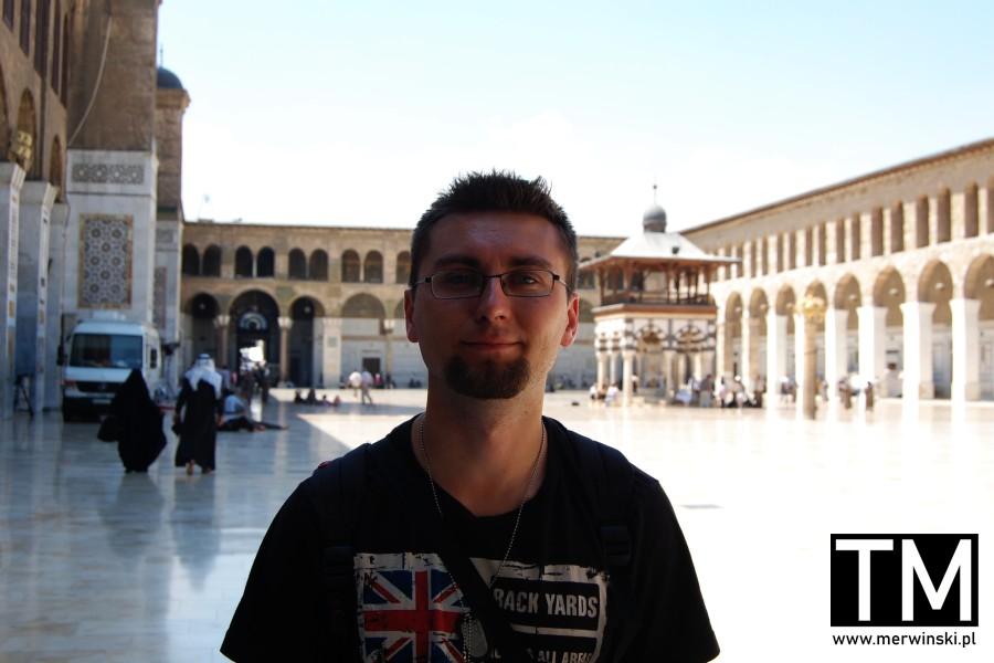 Tomasz Merwiński w Damaszku w Syrii