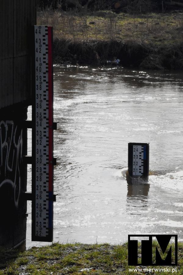 Poziom wody w Bystrzycy luty 2021
