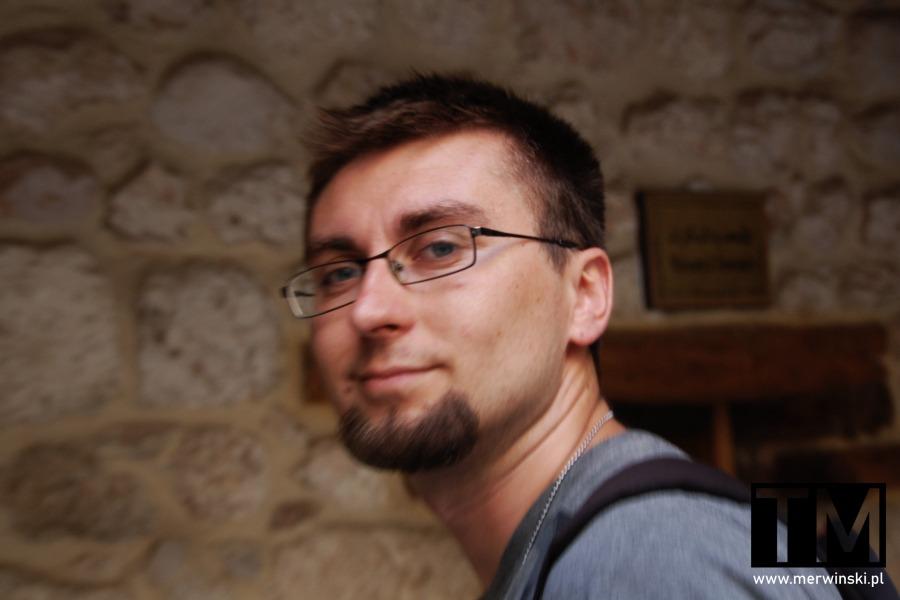 Tomasz Merwiński w Syrii w Maalouli