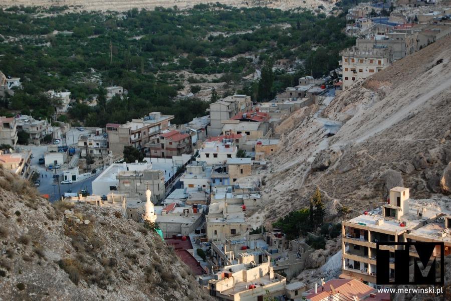 Maaloula, Syria, widok z góry