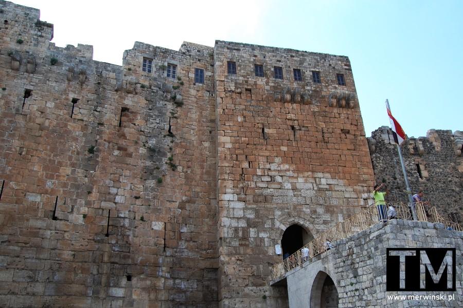 Brama zamku Krak des Chevaliers