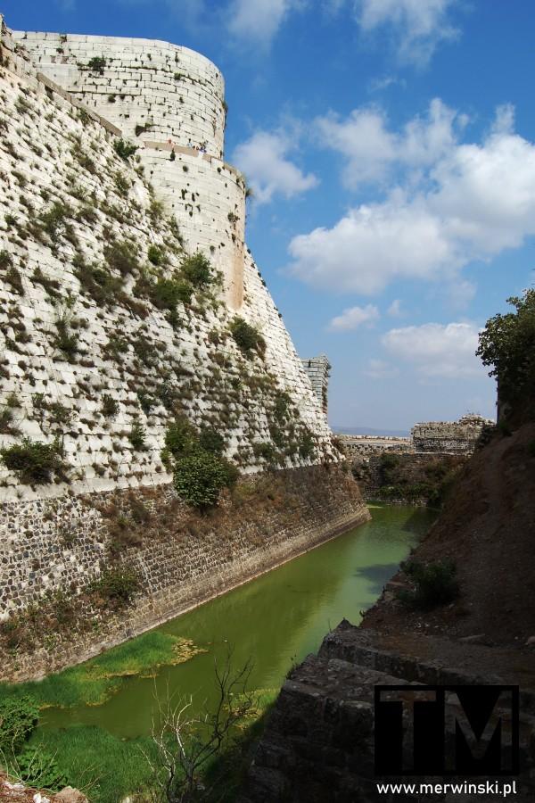 Fosa w zamku Krak des Chevaliers