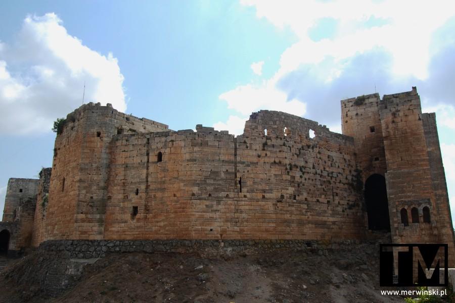 Mury zamku Krak des Chevaliers