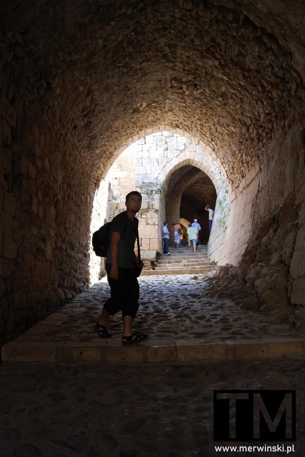Tomasz Merwiński w zamku Krak des Chevaliers