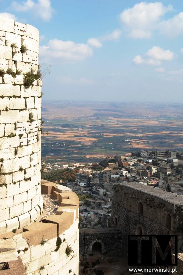 Widok z zamku Krak des Chevaliers