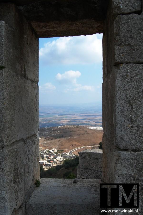 Widok z okna Krak des Chevaliers