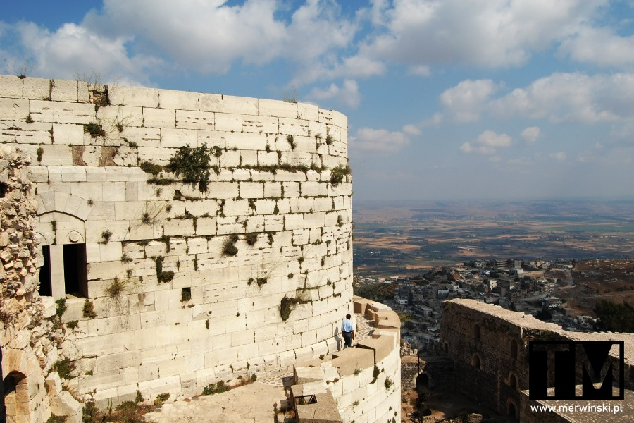 Widok z murów zamku Krak des Chevaliers