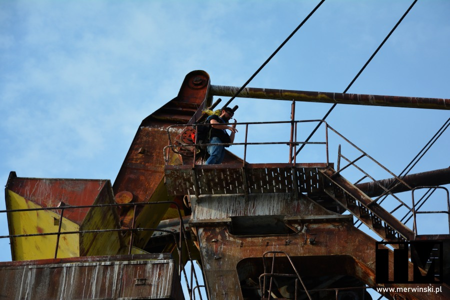 Tomasz Merwiński na żurawiu portowym, Czarnobylska Strefa Wykluczenia