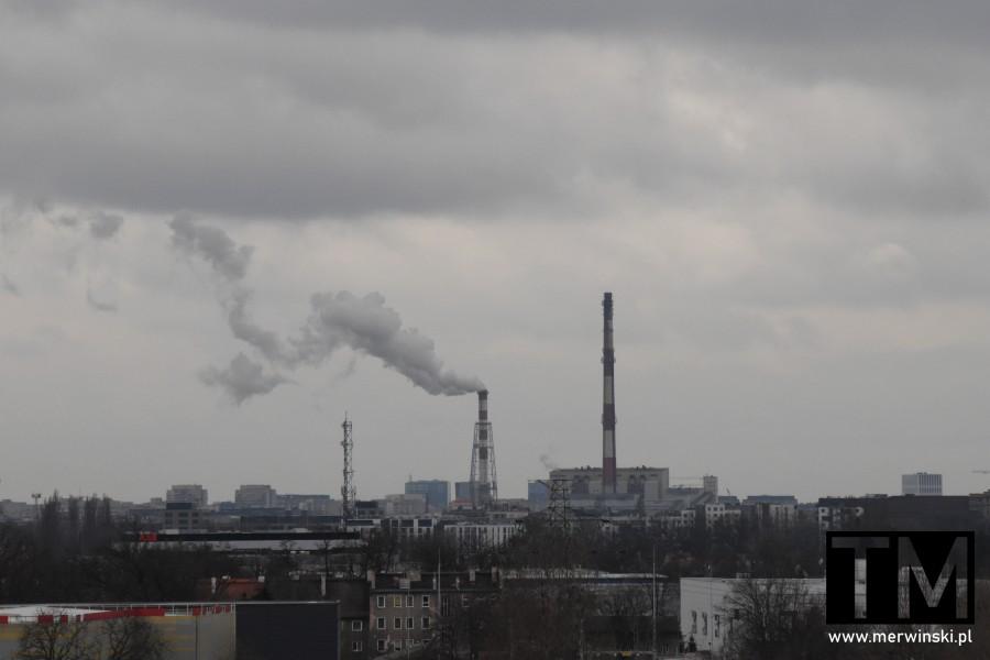 Widok na Kogenerację z dachu Młyna Sułkowice