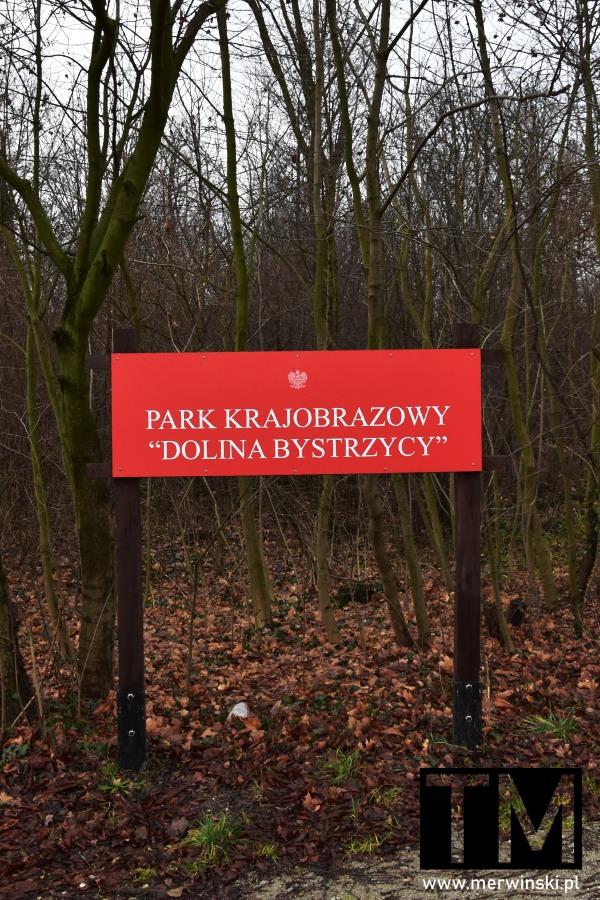 Tablica Park Krajobrazowy Dolina Bystrzycy