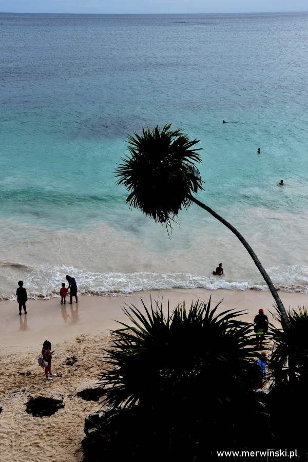 Morze Karaibskie widziane z Tulum