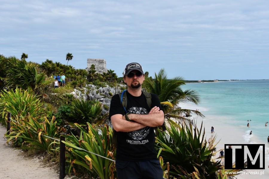 Tomasz Merwiński w Tulum w Meksyku