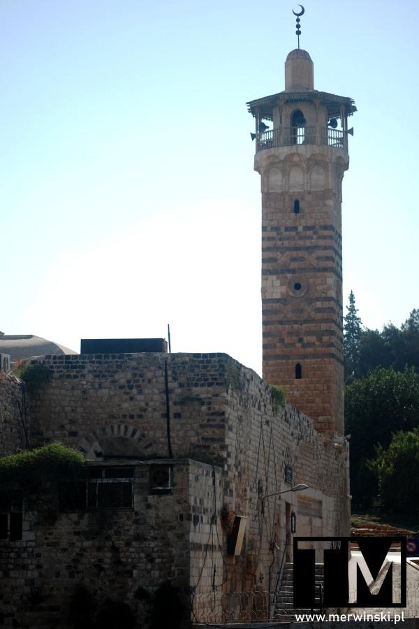 Wieża meczetu Nur Al-Din w syryjskiej Hamie