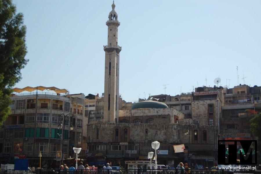 Minaret w Hamie w Syrii