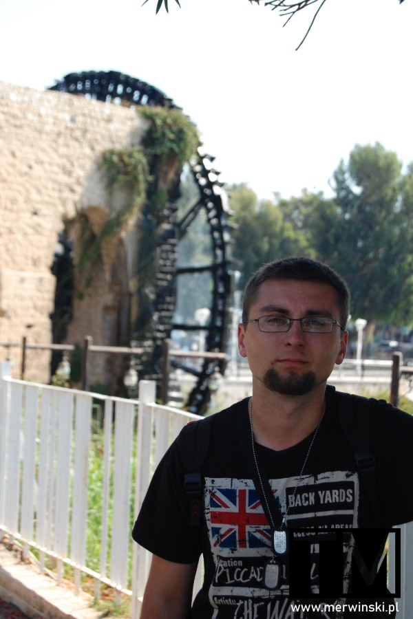 Tomasz Merwiński w Hamie w Syrii