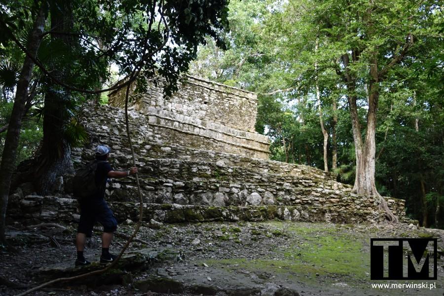 Tomasz Merwiński w Muyil na Jukatanie