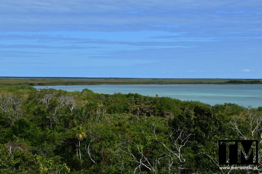 Widok na lagunę Sian Ka'an na Jukatanie