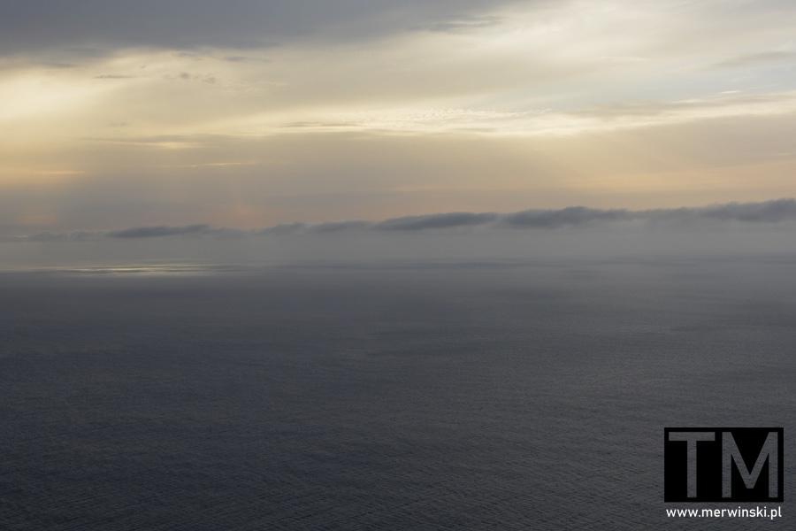Ocean Atlantycki widziany z Ponta do Pargo na Maderze
