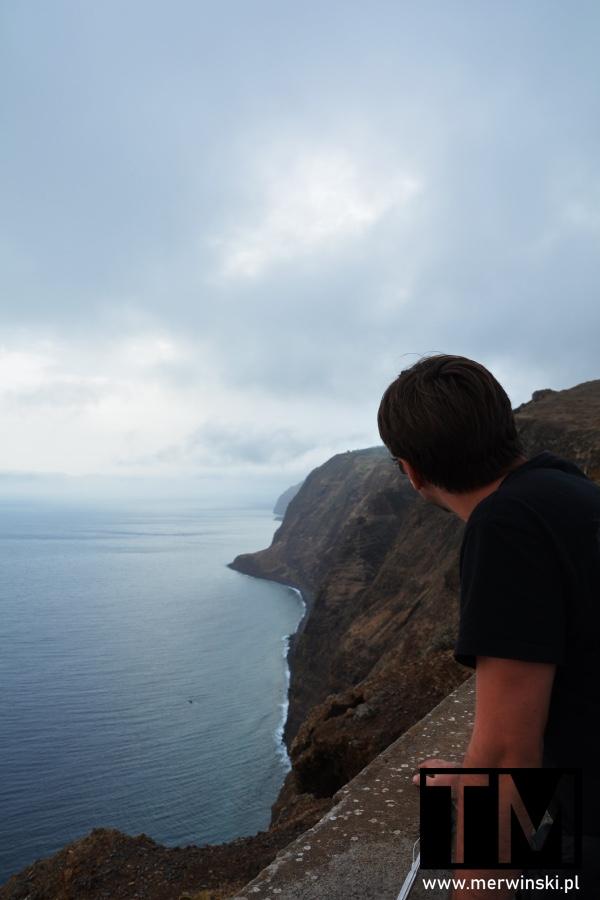 Tomasz Merwiński na Ponta do Pargo na Maderze