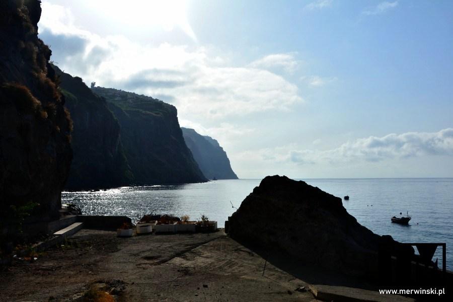 Wybrzeże Madery widziane z wysokości miejscowości Ribeira Brava