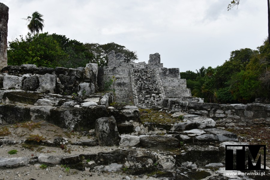 El Meco w Cancún - piramida Majów