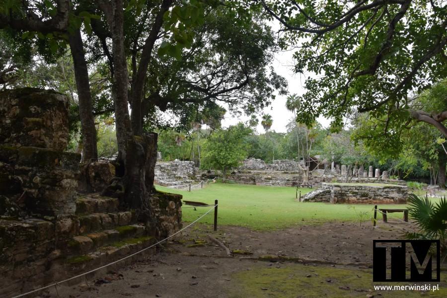 Widok na strefę archeologiczną El Meco