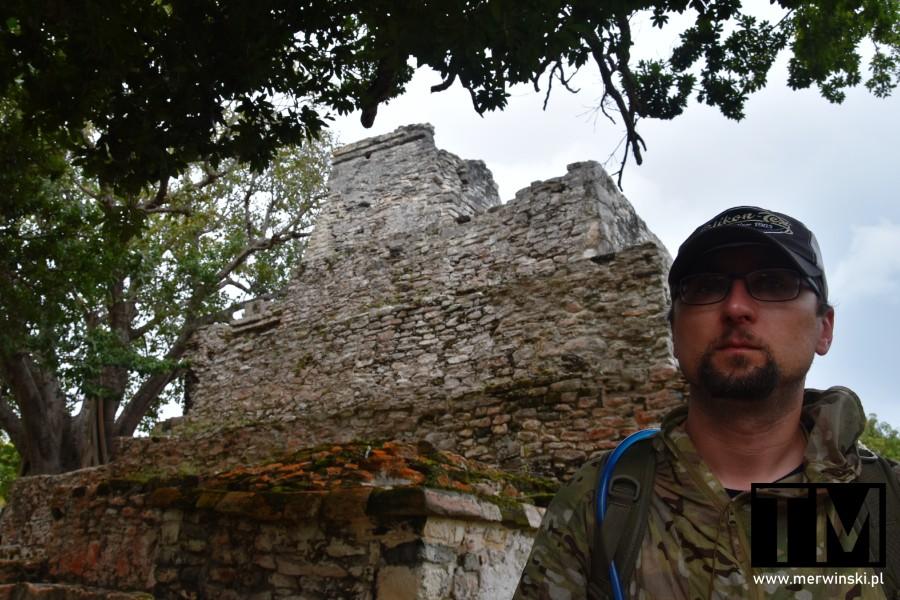 Tomasz Merwiński w El Meco na Jukatanie